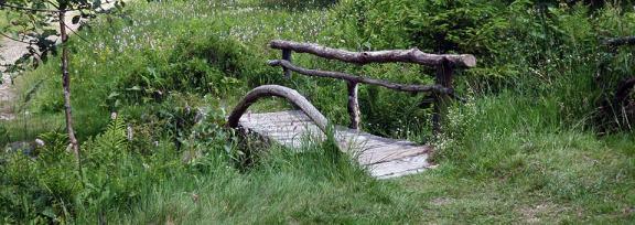 Slide - Petit pont de bois