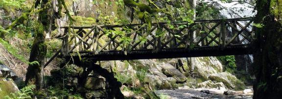 Slide - Pont de bois au-dessus d'une rivière