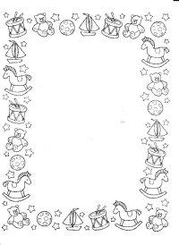 Cornici Di Natale Da Colorare Gratis Stampa Disegno Di
