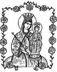 Icone di Maria da colorare | Icone di Maria disegni ...