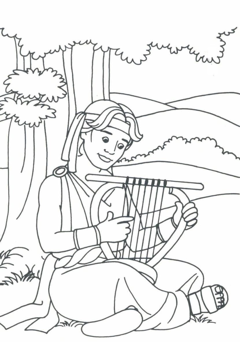 Free coloring pages of david and mephibosheth
