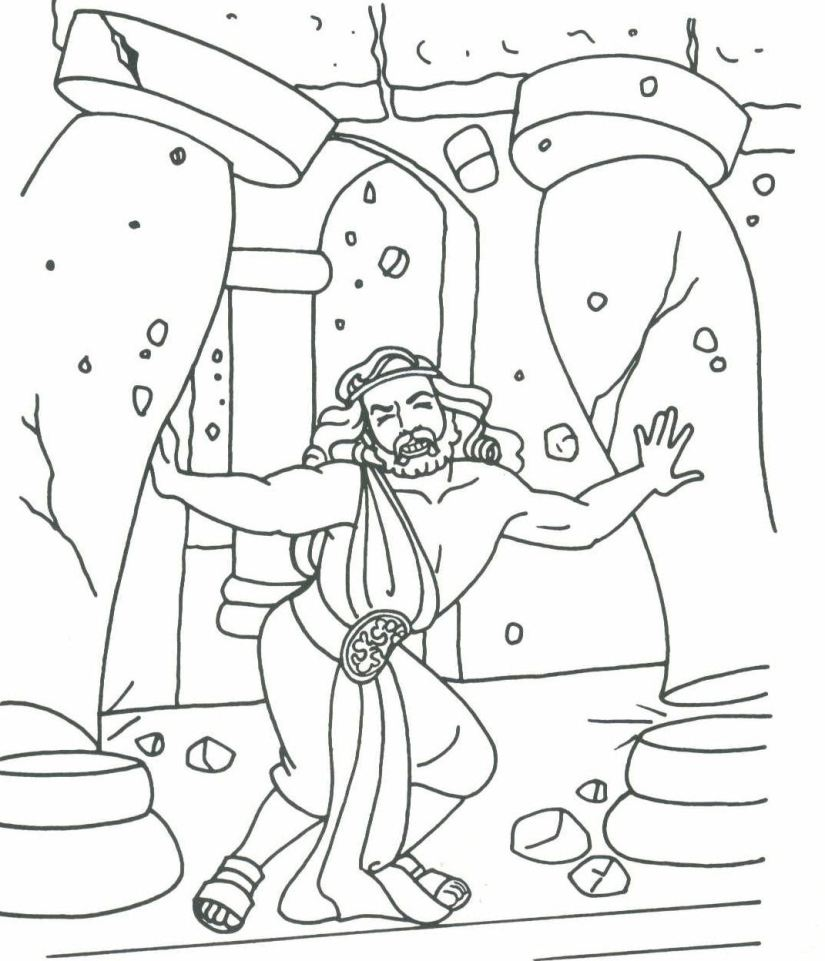 Birth Of Jesus Coloring Page Of Samson Coloring Pages