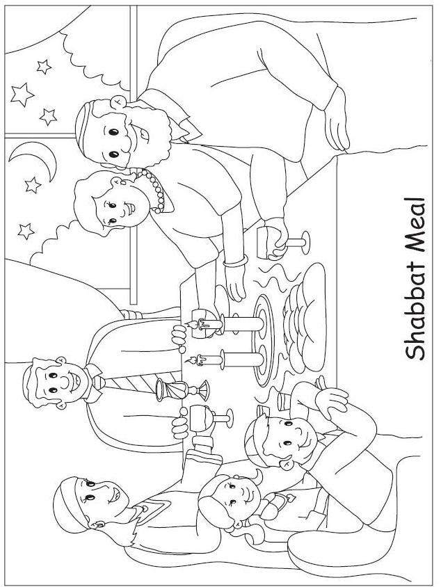 Shabbat Coloring Pages Causesofchildhoodobesity