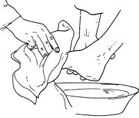 Lavanda dei piedi da colorare | Lavanda dei piedi disegni ...
