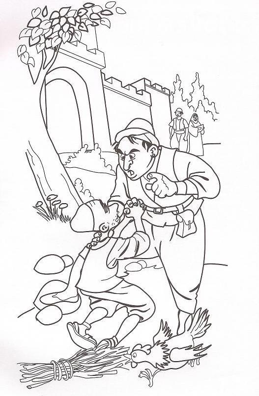 Parable Unforgiving Servant Coloring Page Sketch Coloring Page