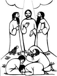 Transfiguration on Pinterest | Jesus, Jesus Coloring Pages ...