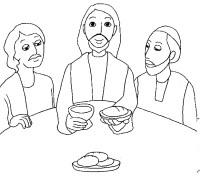 Ultima cena da colorare | Ultima cena disegni | Ultima ...