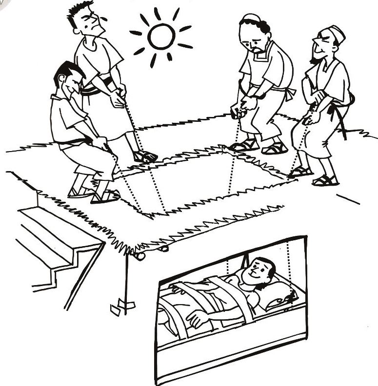 The Man Through Roof Page Coloring Pages