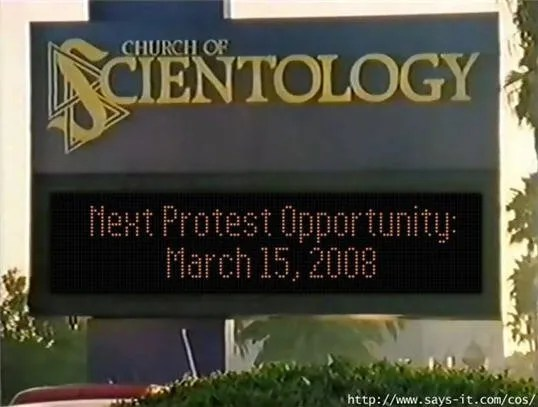 Protest Scientology March 15, 2008