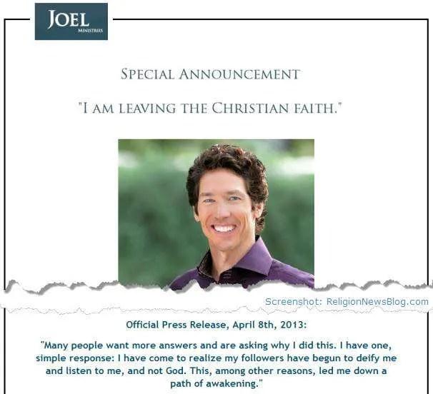 Joel Osteen Hoax website