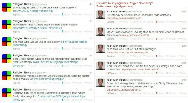 Examples of plagiarism by Rick Alan Ross