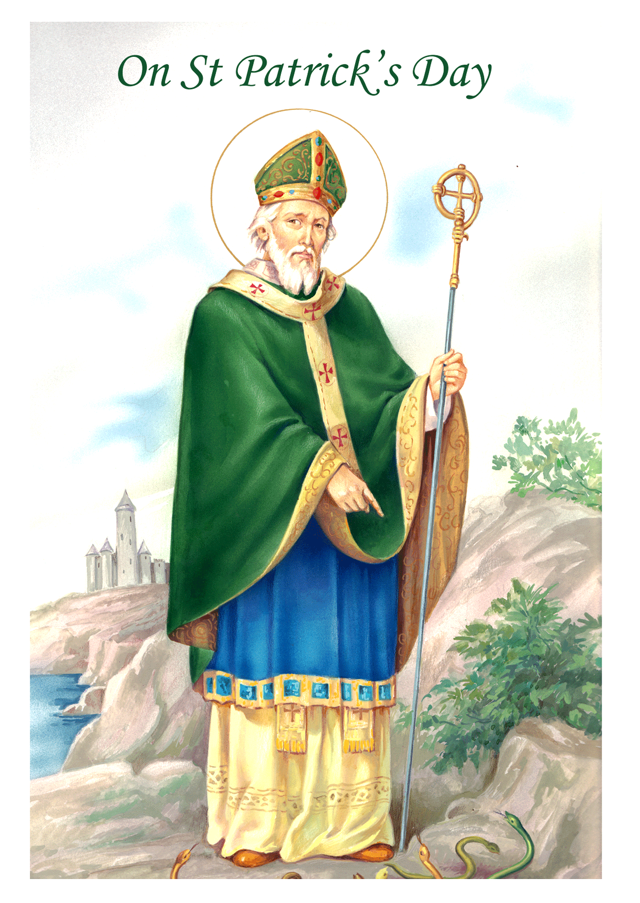 St Patricks Day Religious Cards PD4 Pack Of 25 4 Designs