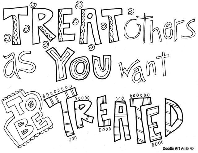Respect coloring pages