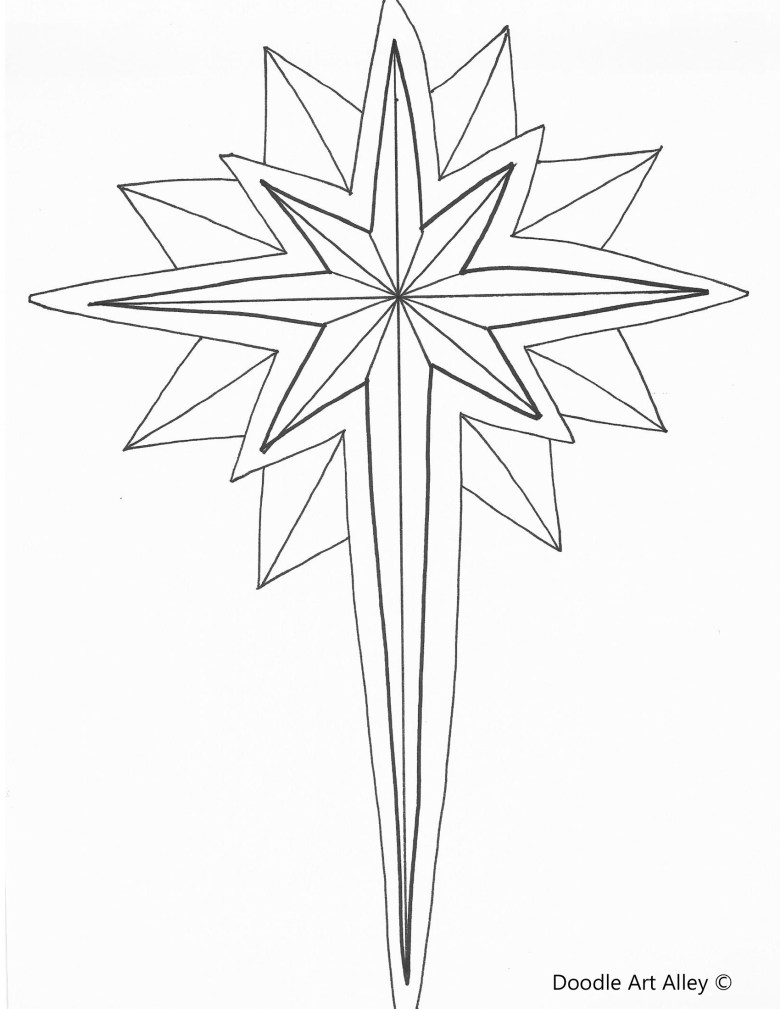 christmas coloring pages - religious doodles