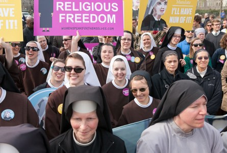 The Little Sisters of The Poor rally outside the Supreme Court in Washington, DC March 23, 2016.  -  American Life League - Creative Commons license
