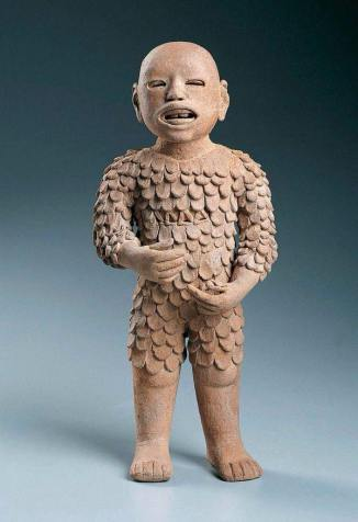 "Xipe Totec (""Our Lord the Flayed One"") wears the flayed skin of a sacrificial victim. ""Wearing people's skins"" is powerful imagery, tied to how we understand them by putting ""skins"" (such as ""religion"") on them."