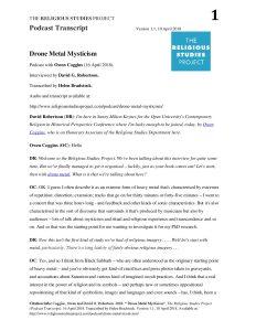 Coggins – Drone Metal Mysticism 1 1 – The Religious Studies