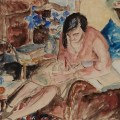 Maud Frances Eyston Sumner's painting Woman Writing