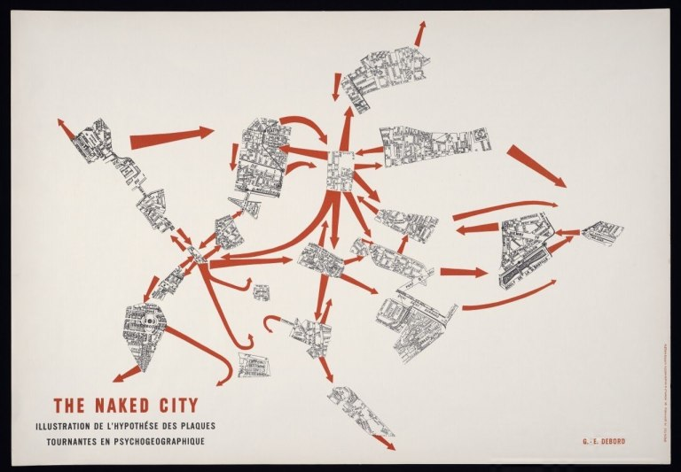 Illustration of Guy DeBord's Naked City