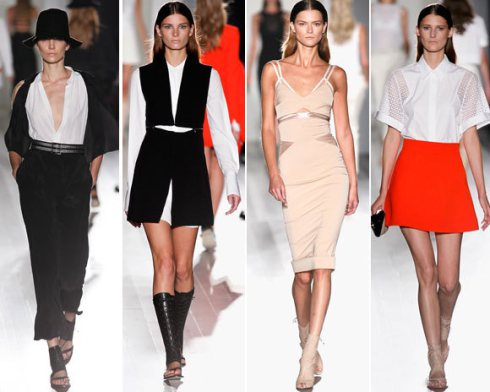 I'm loving these looks from the Spring 2014 Victoria Beckham collection.  I love the solid colors and neutrals and I think the line is quite classy.