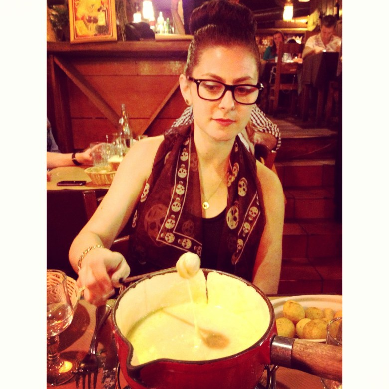 Fondue time in Paris.