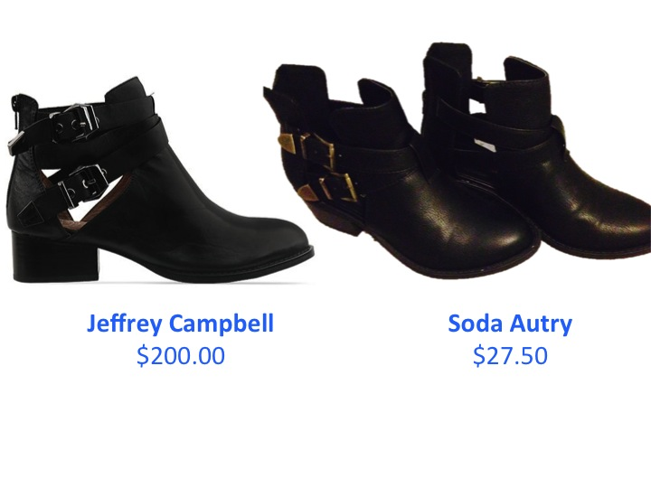 "These Jeffrey Campbell look alike booties are just $27.50 from Amazon.com and they are perfect for fall. They are comfortable and affordable, not to mention adorable. On a recent college grad's budget, it's not in the cards for me to purchase the $200.00 ""everly"" booties but these are almost identical and my wallet is thanking me."