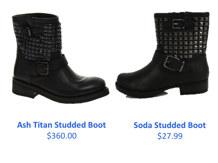These studded boots from amazon.com are perfect for any occasion or season. They are super comfortable, attractive and AFFORDABLE--even for recent college graduates stuck living back with their parents (like me). They're also almost identical to these Ash Titan Studded Leather Short Boots for $360.00. Pair the boots with skinny jeans and a sweater for a cold winter night or with high-waisted shorts and a crop top on a warmer fall day to create that hipster look.