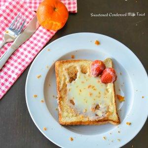 Sweetened Condensed Milk Toast with Orange zest
