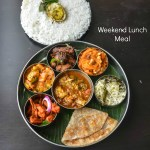 Home Style Fish curry, Coconut Butter Chicken Roast, Malai Methi Paneer, Parotta, Ghee rice, Baby corn fry, Semiya kesari – LUNCH MENU 2
