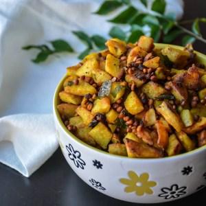 Spicy Arbi Fry/ Seppankizhangu Roast