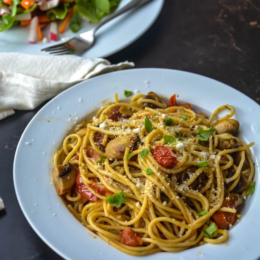 SUndriedTomato_mushroom pasta