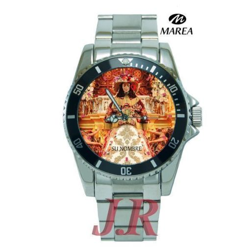 Reloj Virgen del Rocío Pastora hombre E4-relojes-personalizados