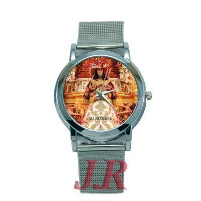 Reloj Virgen del Rocío Pastora Mujer E4-relojes-personalizados
