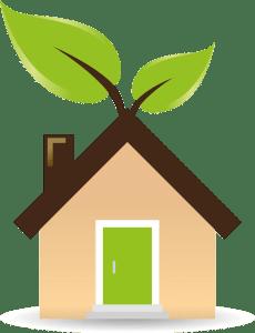 eco friendly house that represents ways to Eco-Friendly Storage