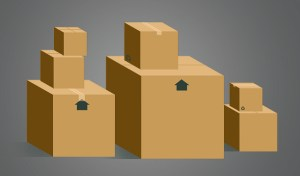 -drawing of moving boxes