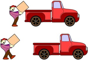 illustration of a man loading a truck
