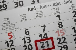 A calendar with Wednesday marked.