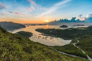 Island off the coast of Hong Kong.