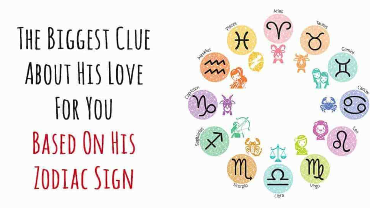 The Biggest Clue About His Love For You Based On His Zodiac Sign
