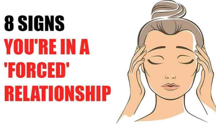 forcing a relationship signs yahoo