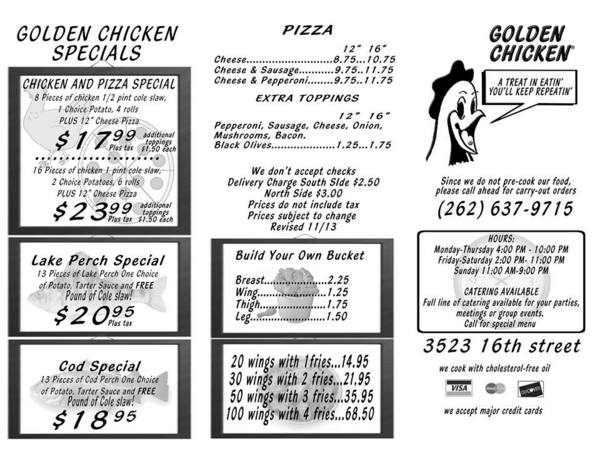 Golden Chicken Delivery and Carry Out in Racine, Wisconsin