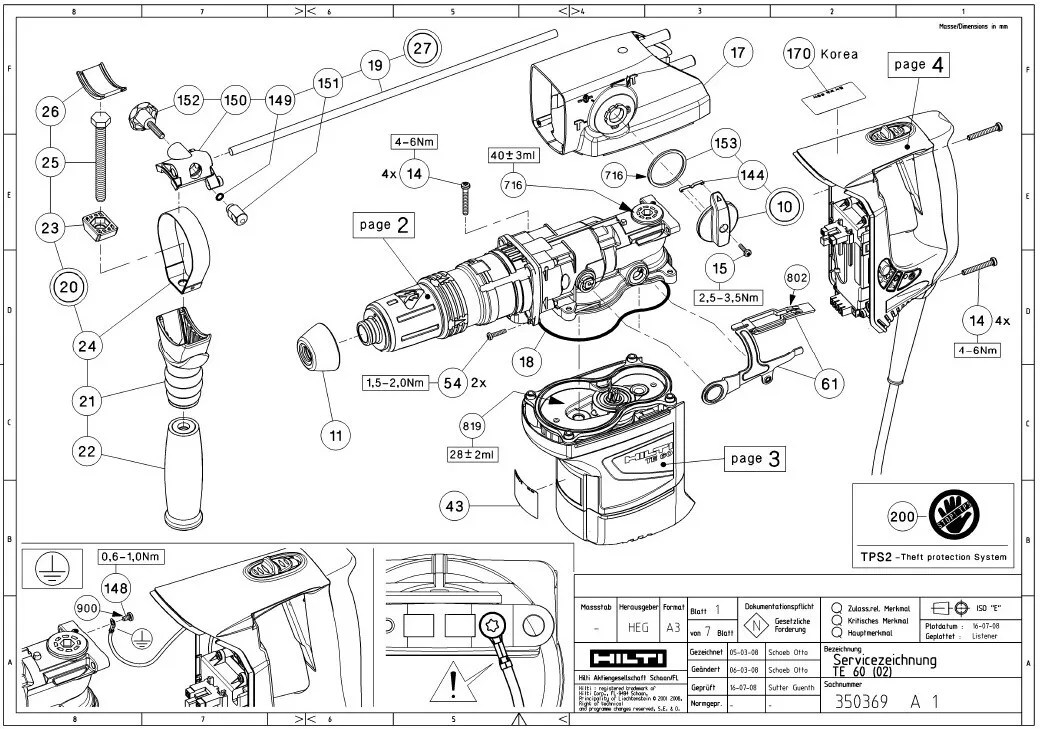 Hilti Parts Manual. Wiring. Wiring Diagram Images