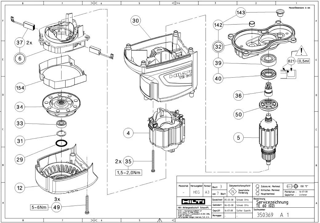 Hilti Te 76 Parts Diagram