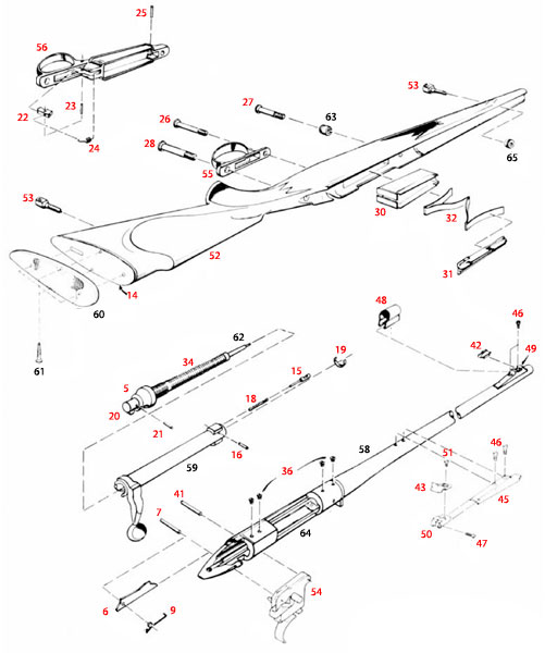 Remington 700 BDL Parts