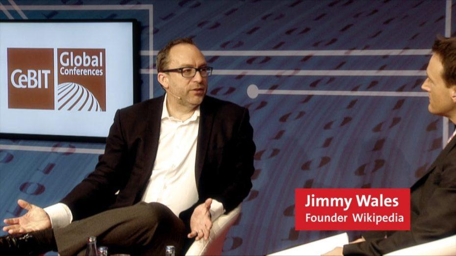 Jimmy Whales auf der CeBIT Golbal Conference