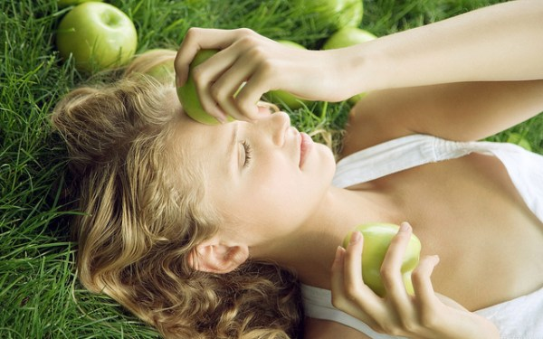 Lying in the Field with Apples - beautiful faces