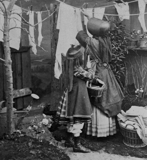 housekeepers doing the laundry