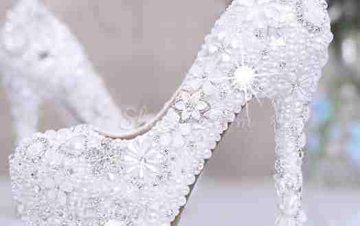jewelled bridal shoes