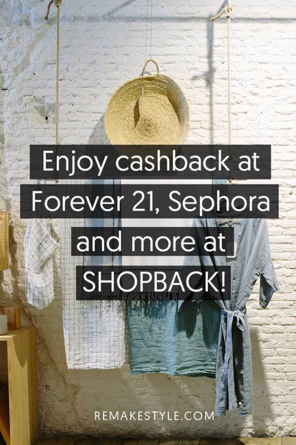 Enjoy cashback at Forever 21, Sephora and more at ShopBack!