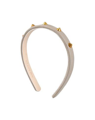 Anna P headband in leather and gold studs